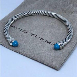 David Yurman 5mm Turquoise Princess & Diamond